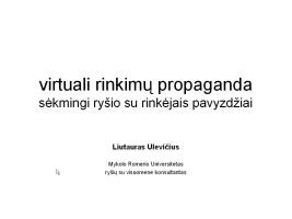 TSPMI virtuali rinkimų propaganda