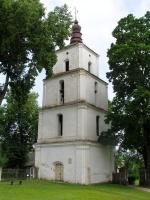 XVIII a. statyta Dusetų bažnyčios varpinė