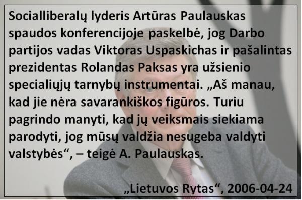 Q2 - Paulauskas apie Uspaskich