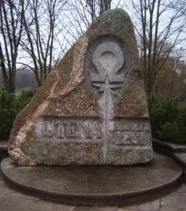 """1261 metų falsifikatas """"garbingai įprasmintas"""" net paminkliniu akmeniu, pastatytu jau Sąjūdžio metais"""